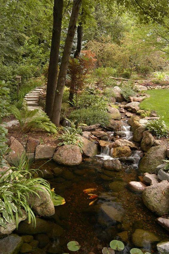 Cascade et  fontaine de jardin , 69 déco pour les moments de relaxe - cqscde-qutour-de-forêt-verdute:
