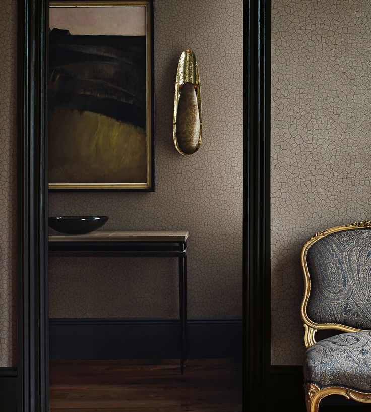 Metallics | Cracked Earth Fabric by Zoffany | Jane Clayton