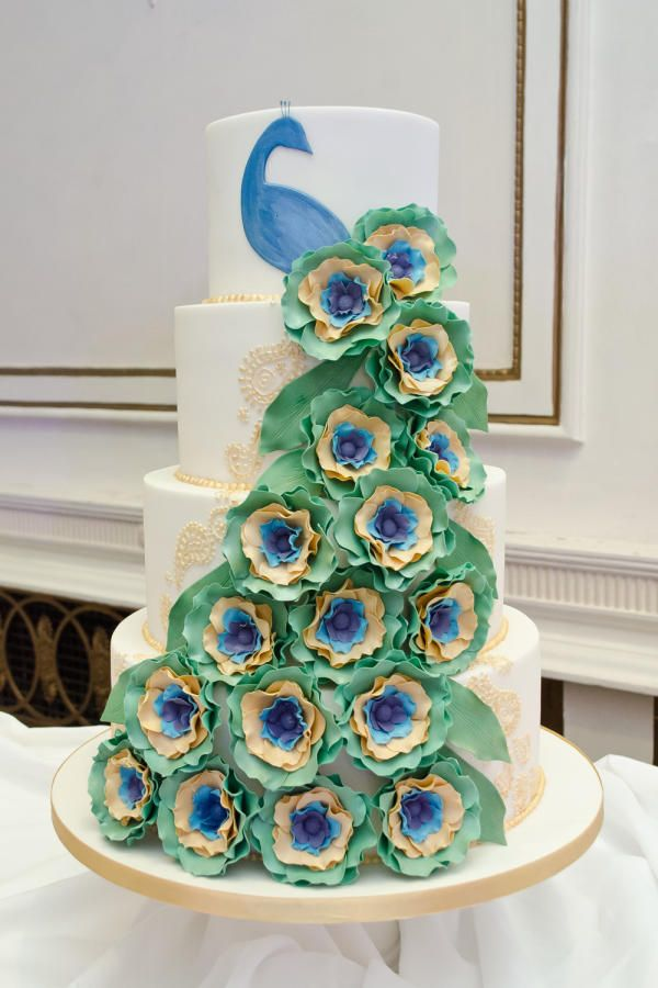 Best Cake Peacock Images On Pinterest Peacock Cake Biscuits - Peacock birthday cake