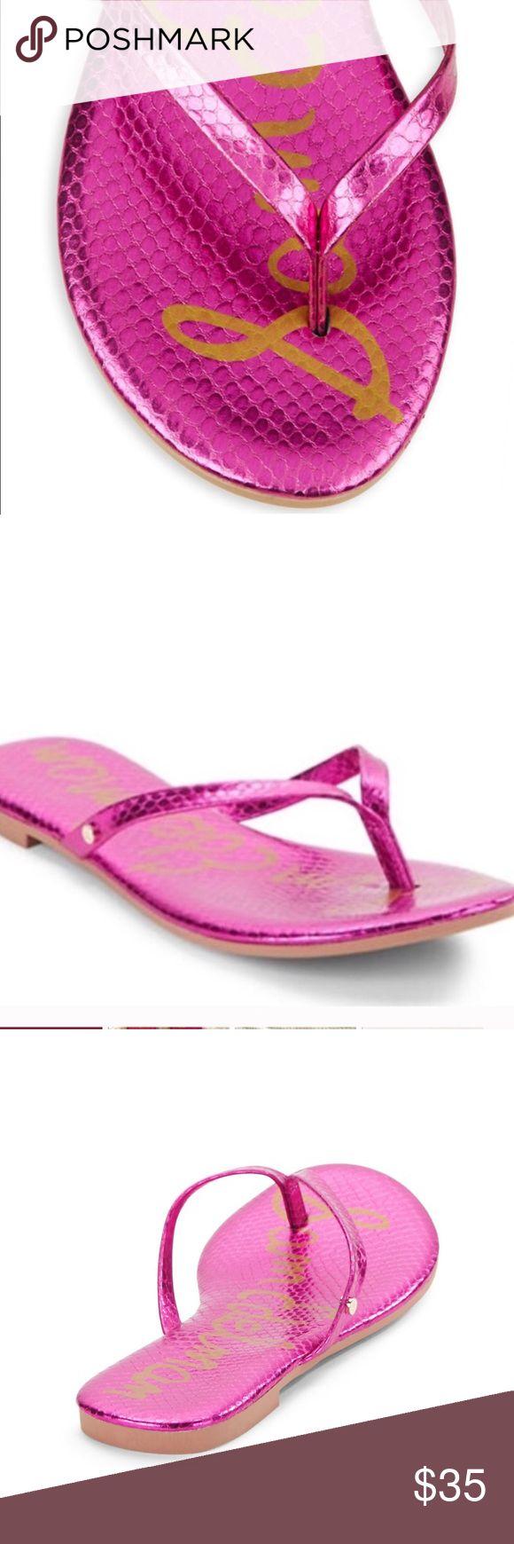 Sam Edelman Oliver Metallic Pink Flip Flops Sz 6 Brand new! Super cute flip flops Sam Edelman Shoes Sandals