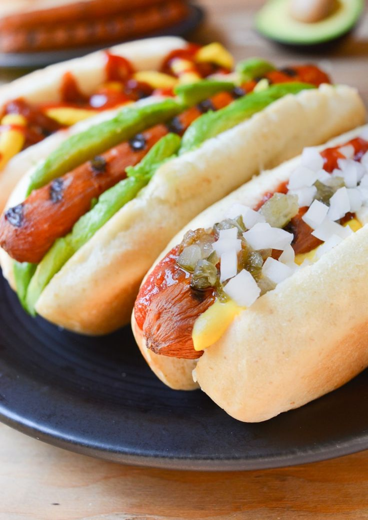 Vegan Carrot Hot Dogs are a healthy alternative to mock meats. Top these marinated carrot dogs any way you like! Grilling, stovetop and oven directions!
