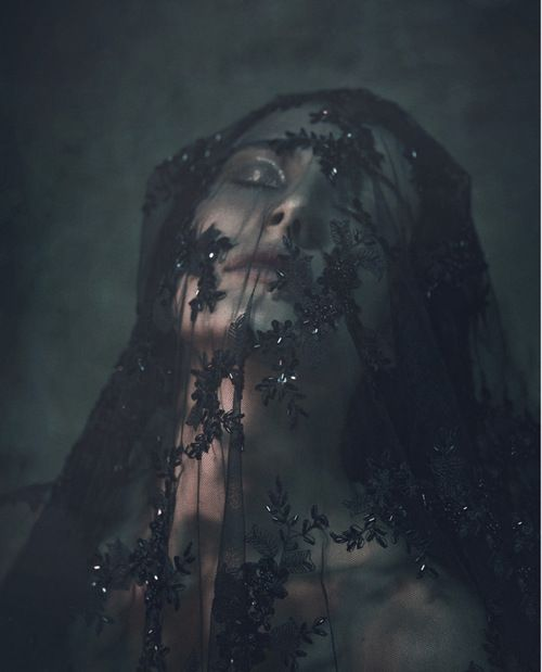 veiled | veil | black lace | surrender: