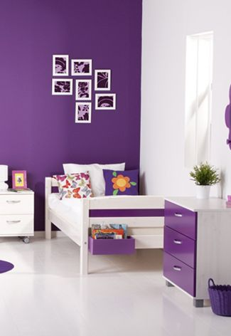 25 beste idee n over paarse slaapkamers op pinterest paarse slaapkamerinrichting lichtpaarse - Slaapkamer kleur meisje ...