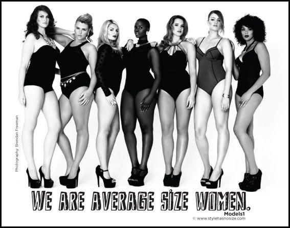 We are average size women! | Curves Celebrated | Pinterest ...