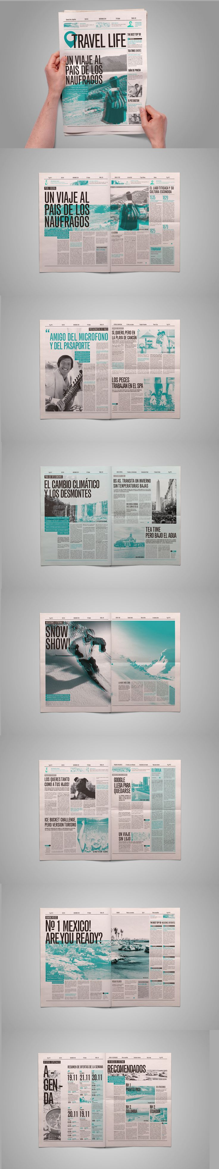 Diseño Editorial - Diario on Behance                                                                                                                                                                                 Más