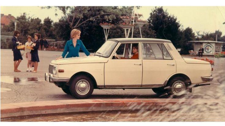 Die kantige Form des Wartburg 353 (ab 1967 mit Dreizylinder-Zweitakter) blieb bis Ende der 1980er aktuell.