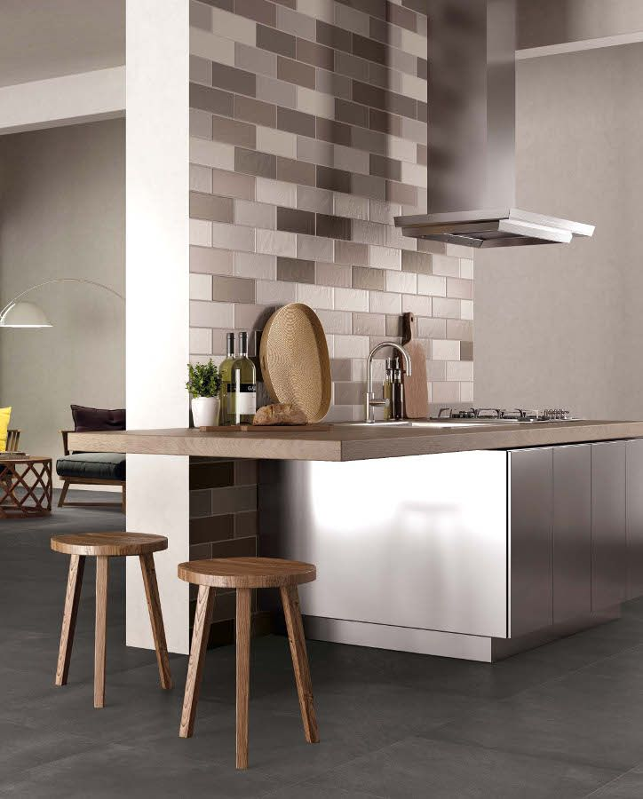 Ceramiche Supergres launches three new collections - Brit, Carnaby and Lake Stone at Cersaie 2014 #kitchen @supergres