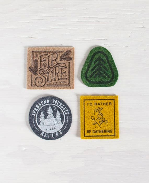 Screen Printed Nature Patches by SlideSideways on Etsy, $14.00 - Sweet!
