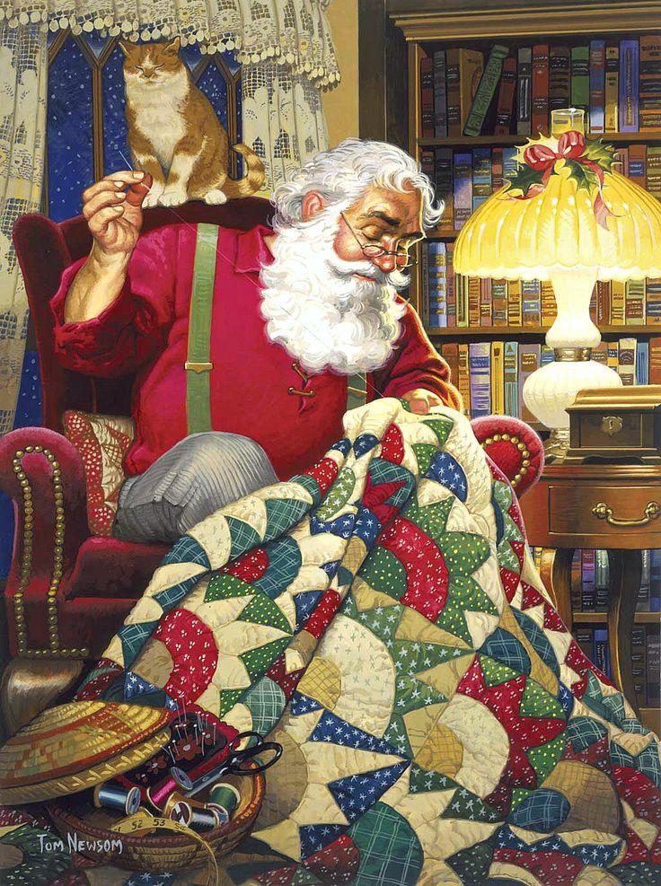 """Tom Newsom - """"Quilting Santa"""""""