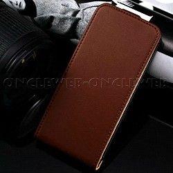 Étui iPhone 5s cuir marron Rancho sur www.etui-iphone.com