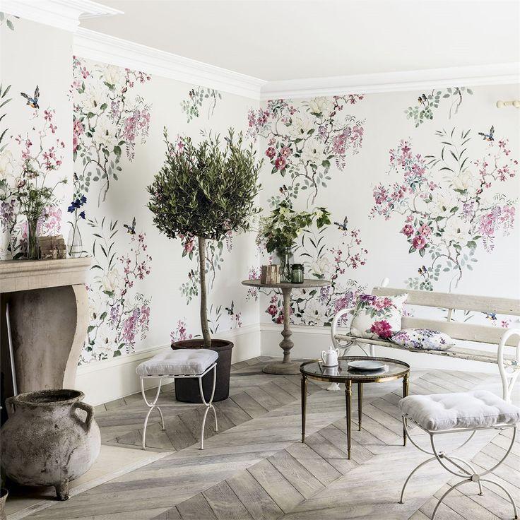 Sanderson Wallpapers | Magnolia & Blossom Panel B (DWAP216306) | Waterperry Wallpapers