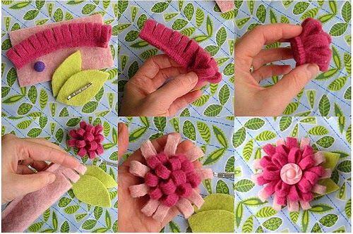 брошь-цветок из фетра своими руками - Самое интересное в блогах