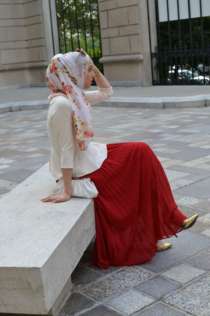 Eid Amour Hani Hulu Fashion, Red skirts, Attire