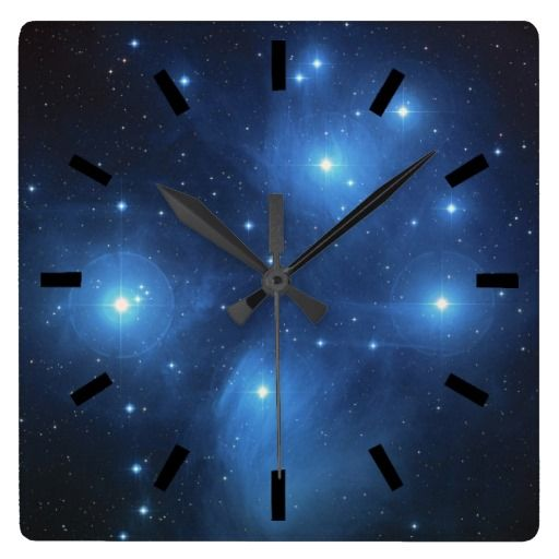Pleiades The seven sisters wall clock