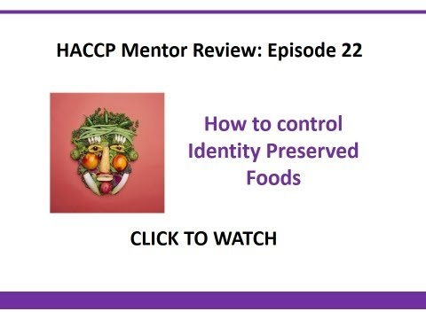 How to control identity preserved foods