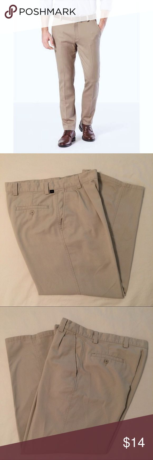 Men's Dockers Pleated Khaki Pants Men's Dockers Khaki Pants Size 33W x 28L Pleated Light Tan Color Good Condition! Dockers Pants Chinos & Khakis