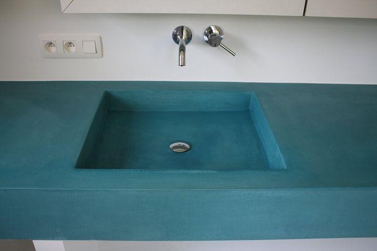 Mortex wasbak blauw  keukens mortex  Pinterest  Photos # Wasbak Mortex_004229