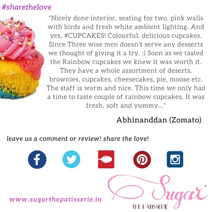 Abhinanddan Gadhe did a wonderful review of us on Zomato! Thanks for the love Abhinanddan #sugarthepatisserie #dessert #cupcake #zomato #sharethelove #mumbaieats #rainbow