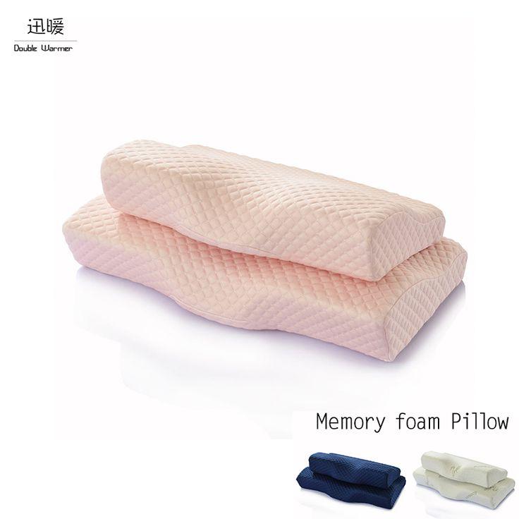 Korea Style Full Range Therapy Cervical Health Care Memory Foam Pillow Fiber Slow Rebound Memory Foam Orthopedic Pillows