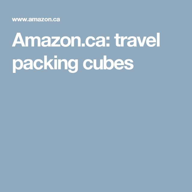 Amazon.ca: travel packing cubes