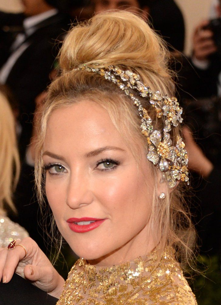Pin for Later: Zoom In on Every Gorgeous Hair Accessory From the Met Gala Kate Hudson Kate's cascading hair accessory was a custom collaboration between Michael Kors and jewelry designer Lorraine Schwartz.