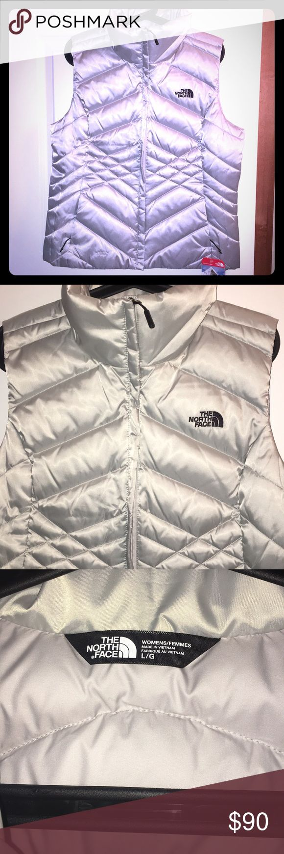 NWT. The North Face puffy vest. NWT. Lunar Ice Grey, The North Face vest. The North Face Jackets & Coats Vests