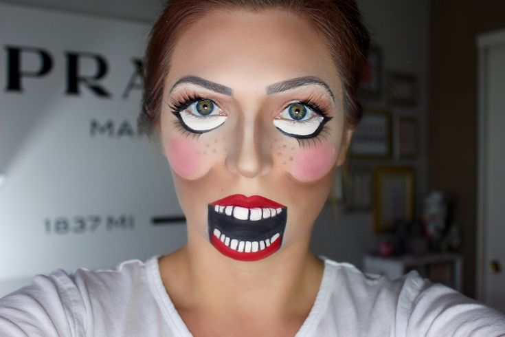 Ventriloquist Doll Halloween Makeup Tutorial