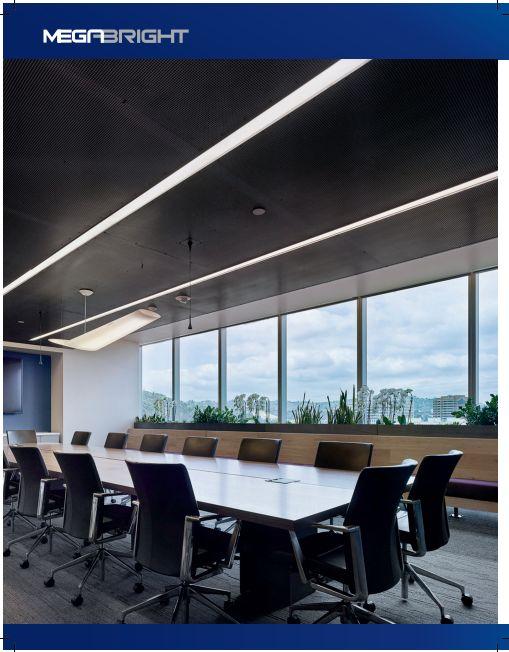 Oficinas iluminadas por Megabright Luz LED