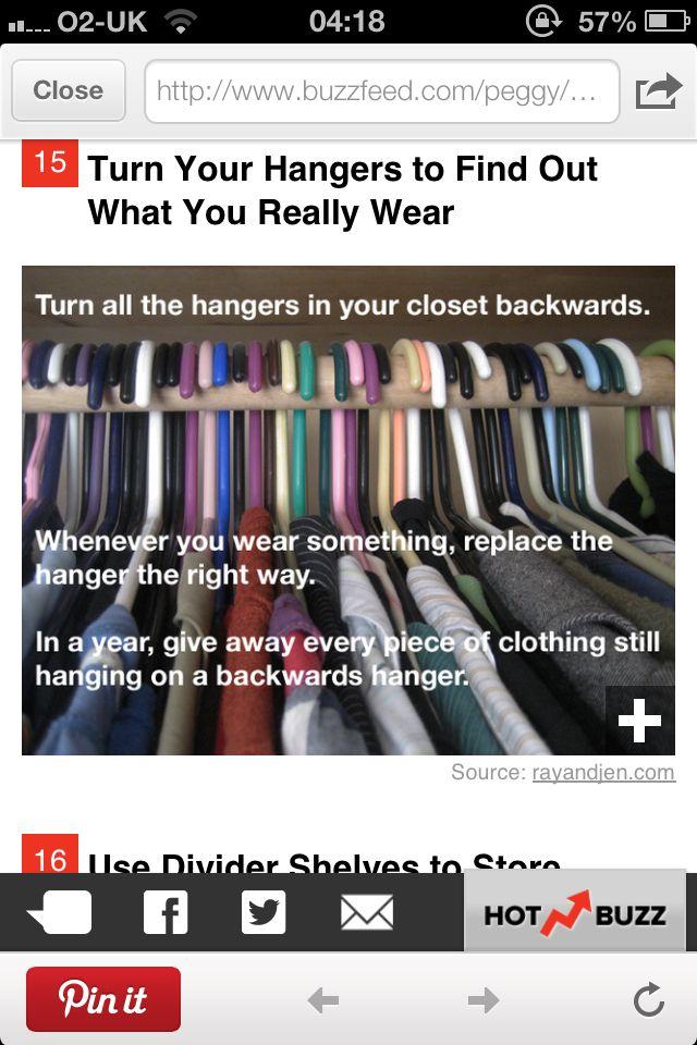 Clothes storage- I'm definitely doing this!