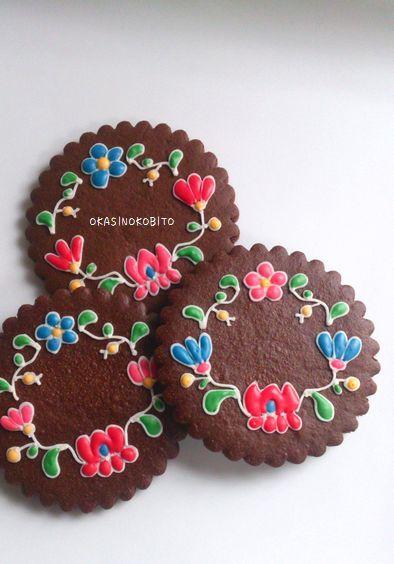 Hungarian needlework cookies