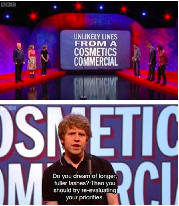 """""""Do you dream of longer, fuller lashes? Then you should reevaluate your priorities."""""""