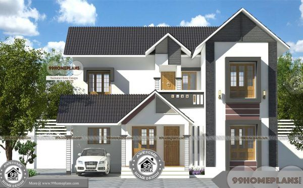 Khd Kerala House Design Free Double Floor Simple Cute Home Pattern Kerala House Design House Front Design Kerala Houses