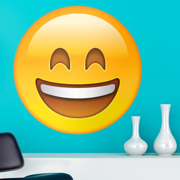 Adesivi Murali: Faccia sorriso #vinili #emoji #emoticon #decorazione #muro #parete #faccias #StickersMurali