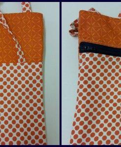 sCATty orange spot shoulder bag