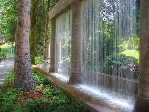 Wall of Water. beautiful. I would love to have something like this!