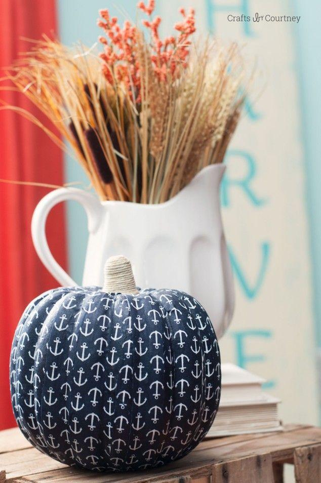 DIY Nautical Pumpkin Craft