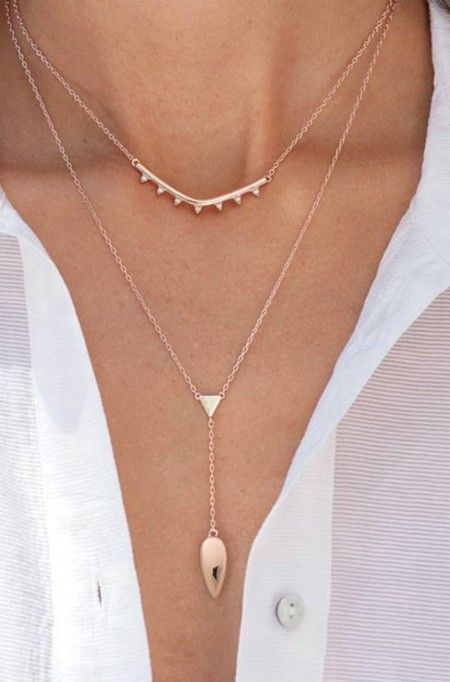 Rose Gold Layering Necklace | Stella & Dot silber???
