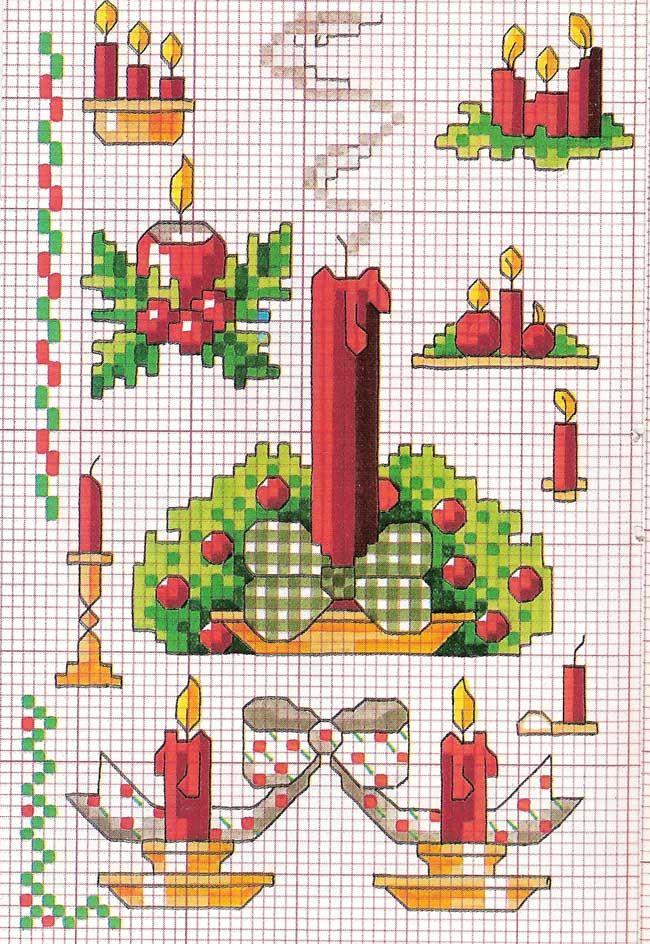 Punto croce - Schemi Gratis e Tutorial: Grande raccolta schemi a punto croce tema Natale
