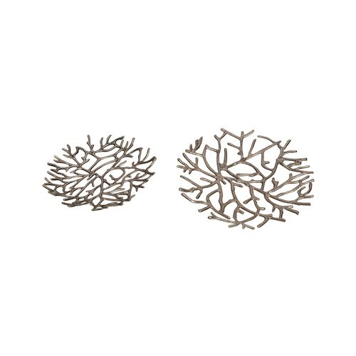 Twig Platter Silver - Set Of Two
