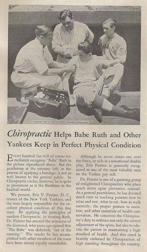 Chiropractic has helped athletes for over 100 years