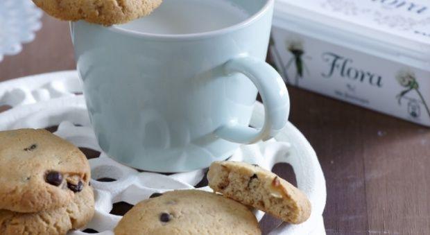Cookies με Φιστικοβούτυρο, Φιστίκια και Σταγόνες Μαύρης Σοκολάτας