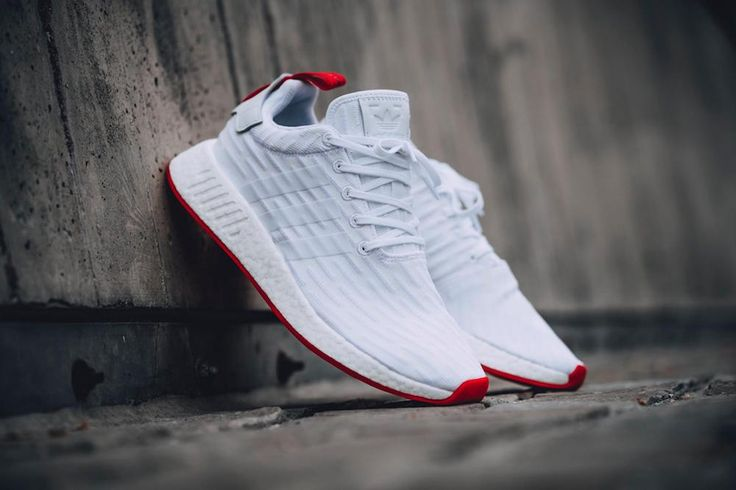 adidas NMD R2 PK Footwear White Core Red-2