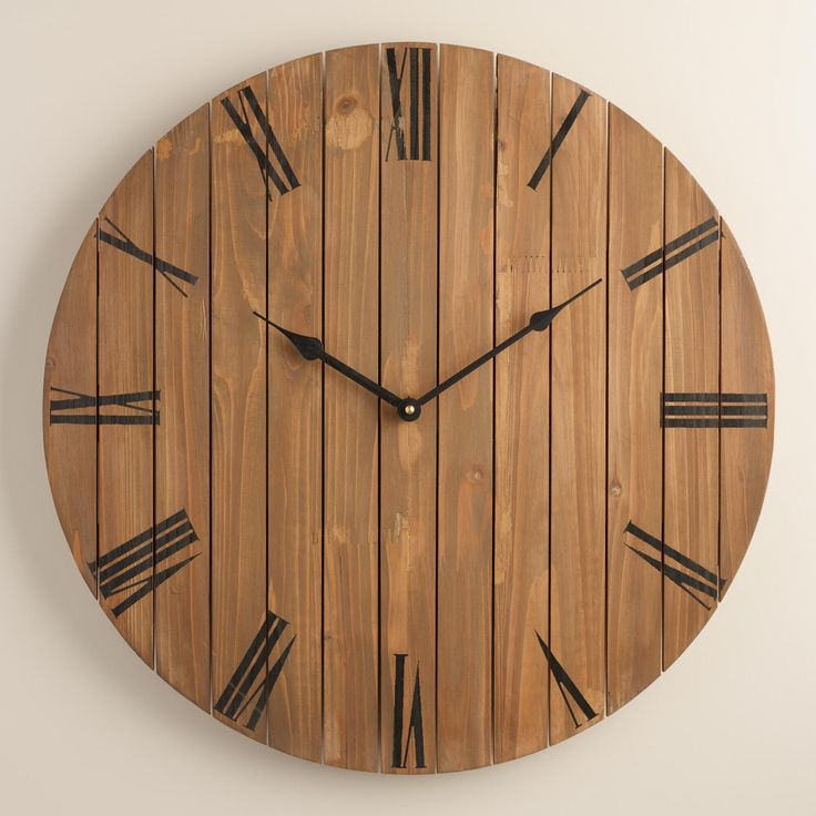 slatted wood wall clock 2