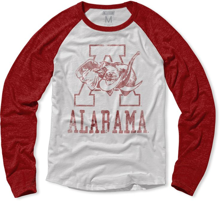 Alabama Mascot Raglan Vintage Style T-Shirt.