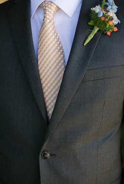 Flowers for the Men - Weddings by Monday Morning Flowers - unique boutonniere ideas