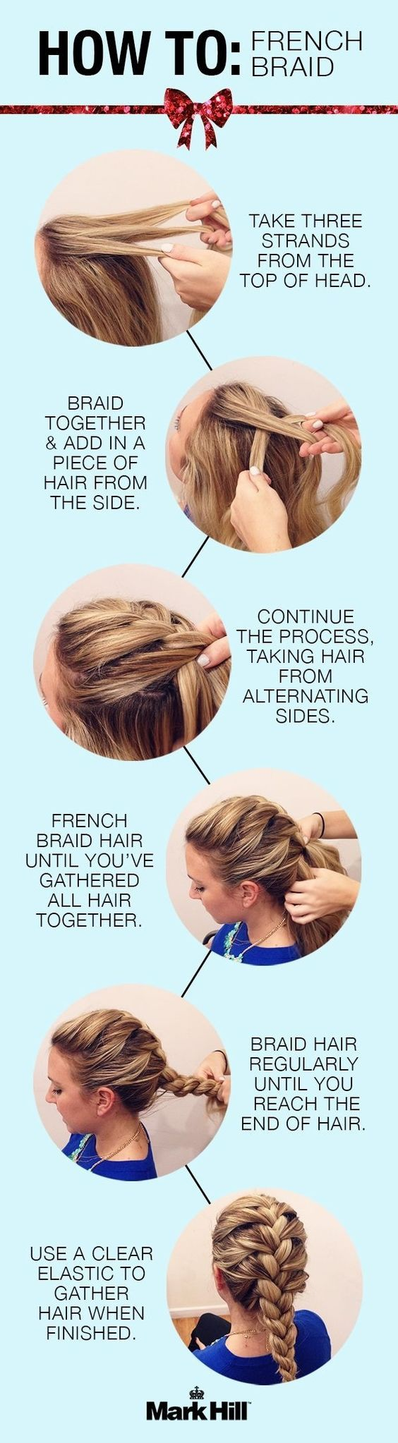 How to French Braided Hairstyles: Classic Braid Tutorial now if I could do my own :-):
