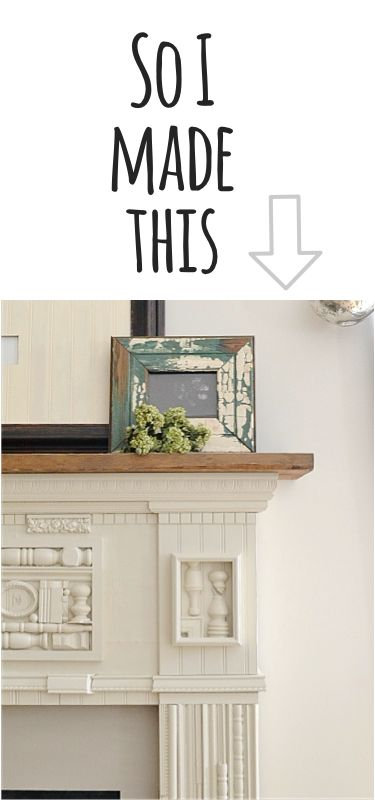 so I made this countrydesignstyl... #mantel #fireplace #diy