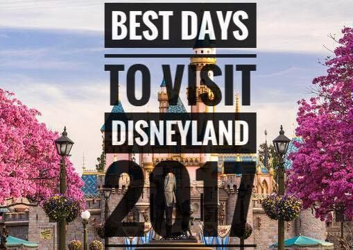 Disneyland crowd calendar for 2017. BEST Days to Visit.