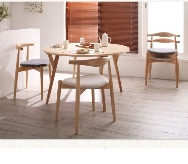 Samurai Furniture | Rakuten Global Market: Dining 5-point set round table round table designer Scandinavian round dining tables living Ministry space simple dressing Chair