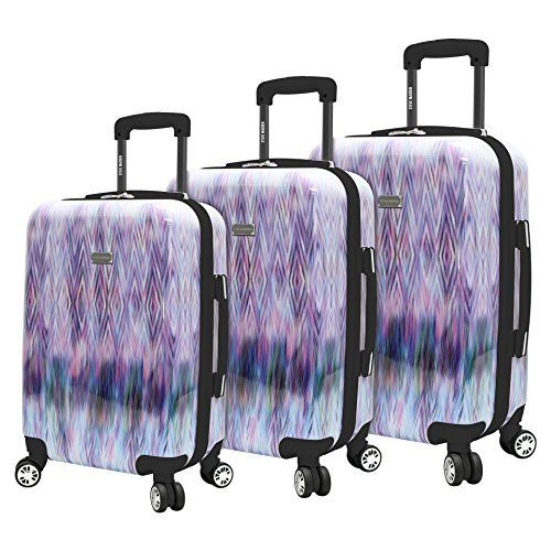 Steve Madden 3 Piece Hard Case Luggage With Spinner Wheels